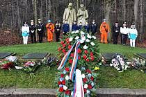 Pietní akt k 84. výročí katastrofy na dole Nelson se konal u památníku obětem katastrofy.