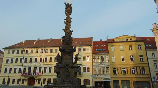 Morový sloup na Zámeckém náměstí v Teplicích.