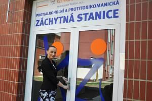 Protialkoholní záchytná stanice v Teplicích. Vrchní sestra záchytné stanice Jaroslava Duchoňová.