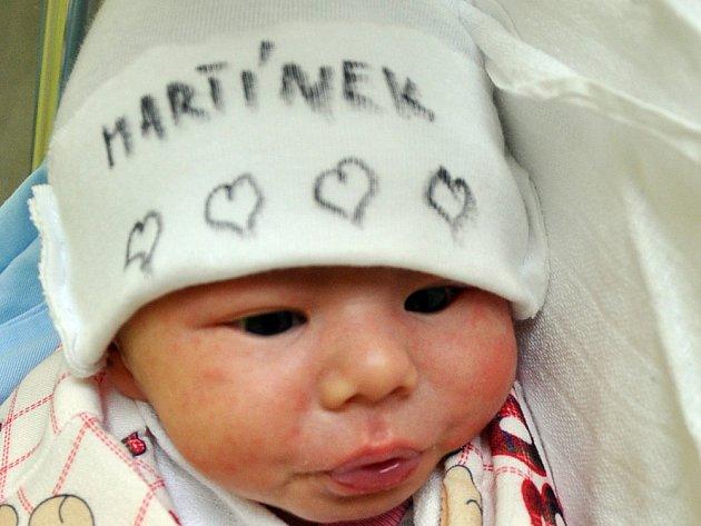 MARTIN STEJSKAL se narodil Michaele Ramešové z Teplic 14. ledna v 15.18 hod. v teplické porodnici. Měřil 50 cm a vážil 3,50 kg.