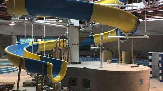 Aquacentrum Teplice, další část přestavby.