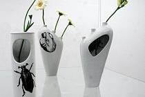 """Výsledky Mezinárodního studentského porcelánového sympozia 2010 na téma """"váza"""" byly ve čtvrtek prezentovány při vernisáži ve Výstavní síni designu FUD v Dubí"""