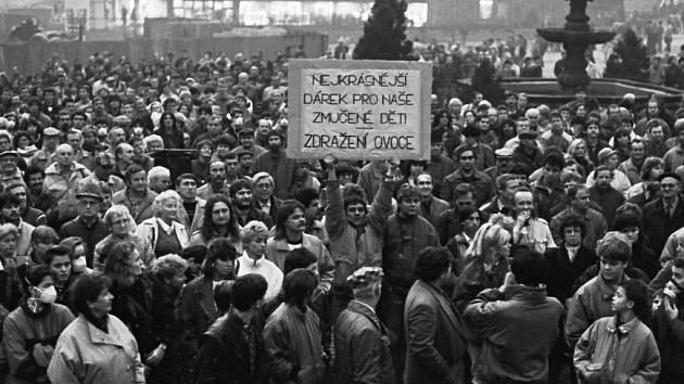 Sametová revoluce na Teplicku.
