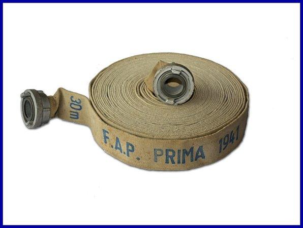Historická hadice pro hasiče firmy Parsch.