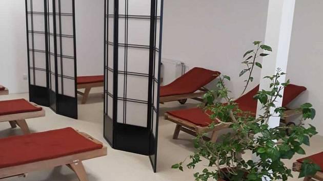 Sauna v Bílině po rekonstrukci.