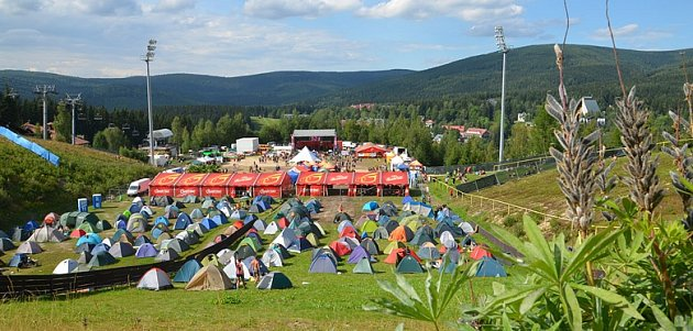 Areál festivalu Keltská noc vHarrachově