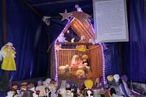 Betlém z panenek a plyšáků