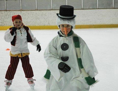 Maškarní karneval na ledě.