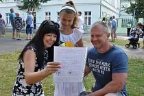 Konec školního roku, děti dostaly vysvědčení, ZŠ U Nových lázní v Teplicích.