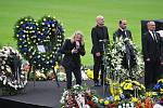 Pohřeb Františka Hrdličky na teplických Stínadlech