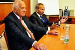 Setkání Václava Klause s primátorem statutárního města Teplice Jaroslavem Kuberou
