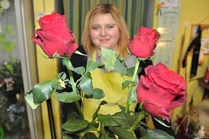 Květinářka Jana Řezníčková.