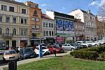 Benešovo náměstí v Teplicích.