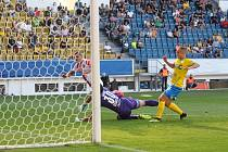 Teplice - Slavia. Vedoucí gól Slavie.
