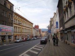 Masarykova (dříve Leninova) ulice v Teplicích
