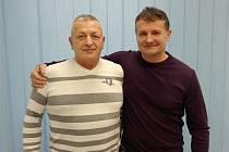 Jiří Peřina vpravo, Jozef Kovács vlevo.