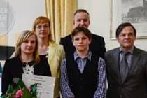 Fotografie z předání ceny na Velvyslanectví Spolkové republiky Německo.