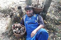 Bohumil Polívka z Duchcova na Teplicku nedávno navštívil les v okolí Nového Města a během několika chvil nasbíral dva koše hub.