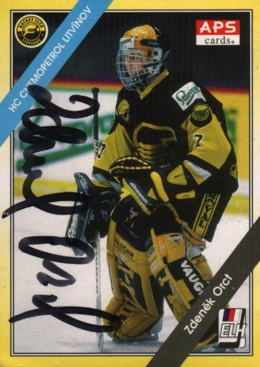 Kartička Zdeňka Orcta od firmy APS ze sezony 1994/1995.