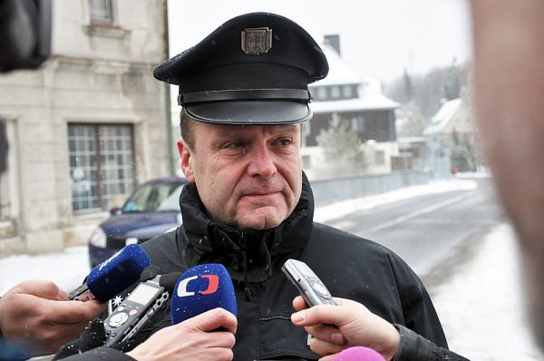 Pavel Češka zcizinecké policie při tiskové konferenci na Moldavě.