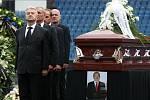 Pohřeb Františka Hrdličky na teplických Stínadlech.