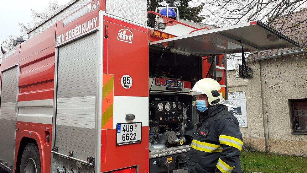 Požár domu v Novosedlicích.
