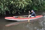 Vodáci zamkli řeku Bílinu.