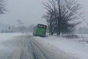 Nehoda autobusu na silnici Osek – Dubí.