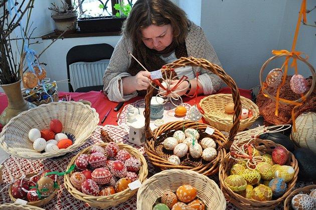 Výstava Velikonoční tradice se o víkendu konala v oseckém klášteře.