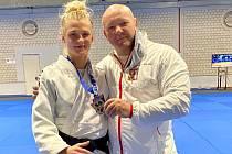 Věra Zemanová a její trenér Václav Prokeš