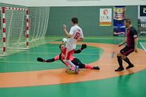 Litvinov dává jeden ze sedmi gólů Teplic.