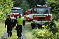 Cvičení hasičů - Doubravka