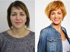Helena Petrásková před a po proměně.