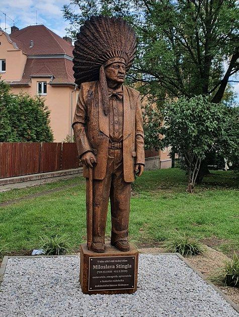 Socha Miloslava Stingla vBílině