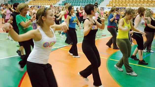 Zumba ve sportovní hale na Stínadlech  v Teplicích