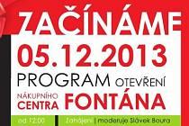 OC Fontána v Teplicích začíná...