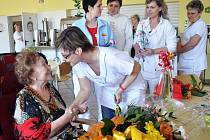 Sté narozeniny Anny Jordánové slavili v Domově důchodců v Bystřanech.
