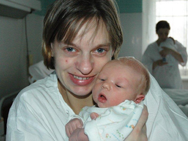Maminka Jaroslava Suchánková se synem Dominikem Léblem