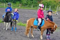 Koňský příměstský tábor v Úpořinách uspořádala Sportovní stáj Svobodová.