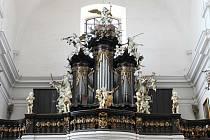 Varhany v bazilice v Bohosudově.