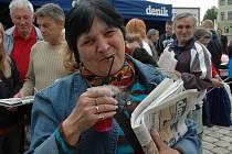 Den s deníkem na náměstí Svobody