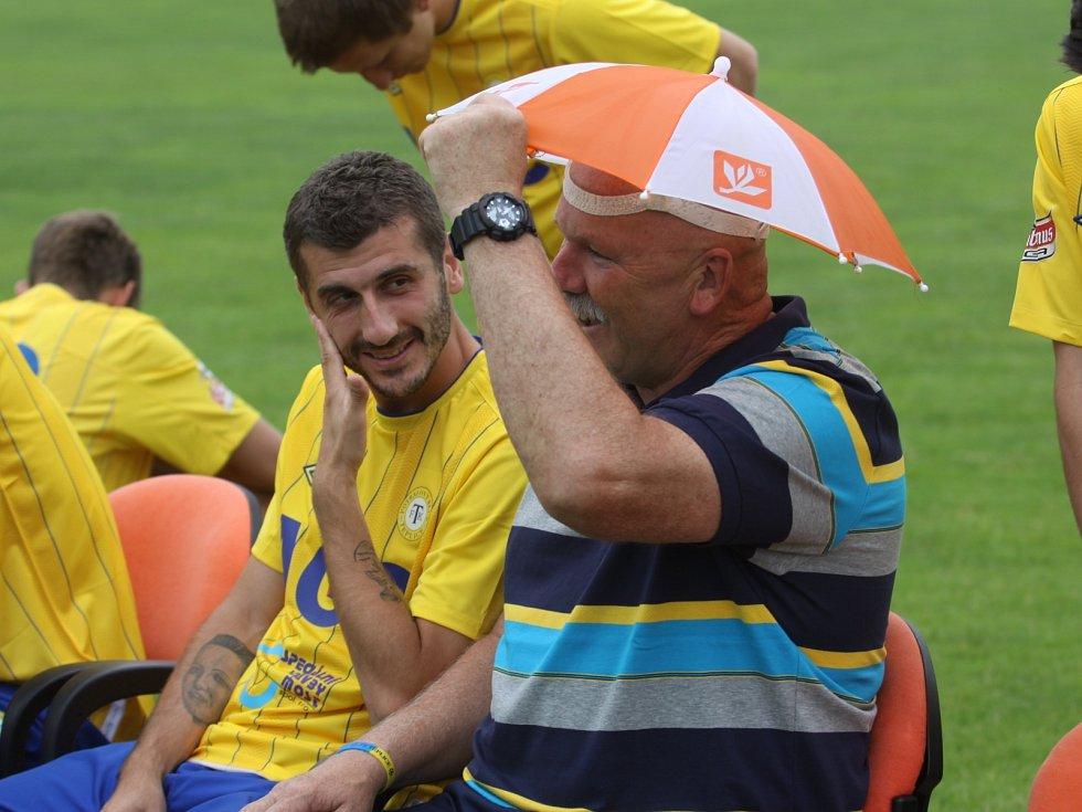 Focení FK Teplice v Modré - Ljevakovič a Poustka