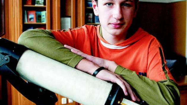 Ondra Libánský uspěl v soutěži a mohl se tak zúčastnit Expedice Mars 2007
