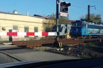Vlak na přejezdu