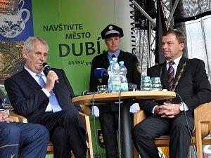 Prezident Miloš Zeman přijel již popáté do Ústeckého kraje