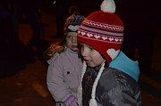 Rozsvícení vánočního stromu v Proseticích.