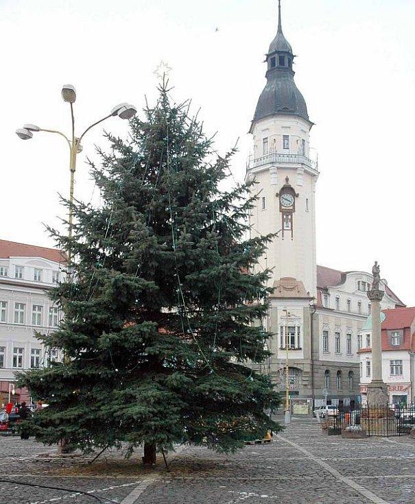 Vánoční strom v Bílině