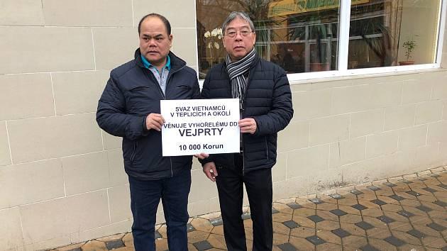 Tepličtí Vietnamci přispěli na Vejprty.