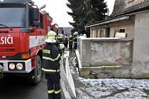 Dům, kde hořelo v Hostomicích.