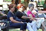 Dům kultury Teplice připravil na léto cyklus lázeňských koncertů v šanovské Mušli. V rámci tohoto seriálu zahrála v sobotu 4. července odpoledne Severočeská filharmonie Teplice. Celý cyklus probíhá od června do konce srpna.